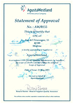 AgustaWestland - Statement of Approval